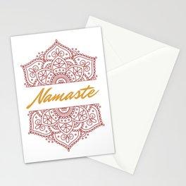 Namaste   Lotus Flower Yoga Yoga Jogi Meditation Stationery Cards