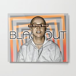 Black Out Britney Metal Print