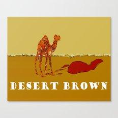 Desert Brown Canvas Print