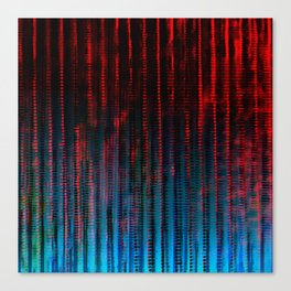 Syntax (Red + Blue) Canvas Print
