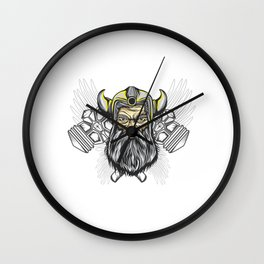 Looking For An Ancient Rome T-shirt Design? Here's A Strong Brave Barbarian T-shirt Design Hammer Wall Clock