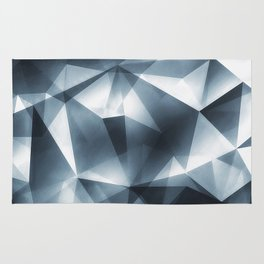 Abstract Cubizm Charcoal Drawing Rug