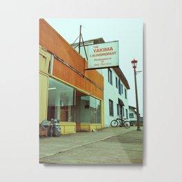 Yakima Laundromat Metal Print