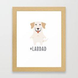 #LabDad Cute Labrador Gift Idea Framed Art Print