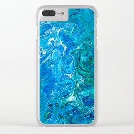 Elegant Crazy Lace Agate 2 - Blue Aqua Clear iPhone Case