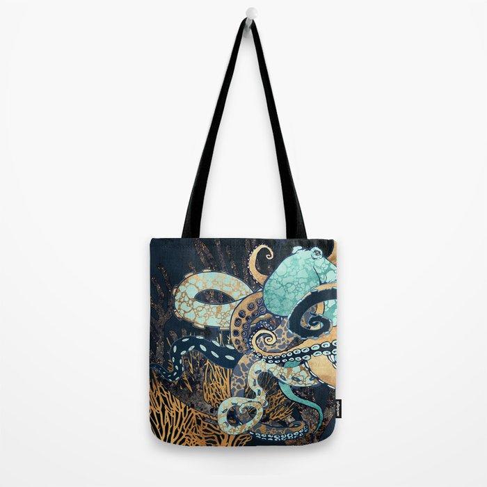 Metallic Octopus II Tote Bag