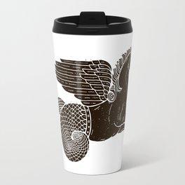 Hippocampus Sea Horse Myth Retro Vintage Rough Design Travel Mug