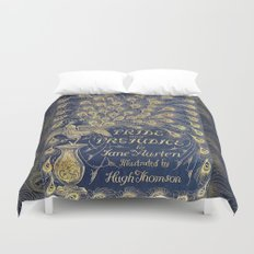 Pride and Prejudice by Jane Austen Vintage Peacock Book Cover Duvet Cover
