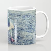 hiphop Mugs featuring HipHop Dove Walk by Sigurdfisk