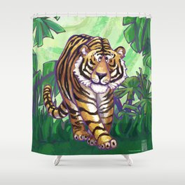 Animal Parade Tiger Shower Curtain