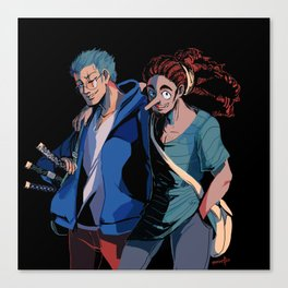 Sniper and Swordsman Canvas Print