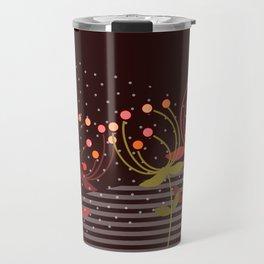 autumn flowers -  Illustration mauve Travel Mug