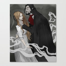 Dracula and Lucy Canvas Print