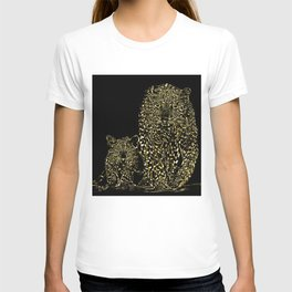 Big Cat Models: Magnified Snow Leopard and Cub 01-01 T-shirt