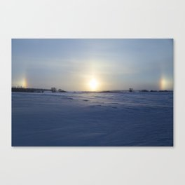 Winter Sundogs 10 Canvas Print
