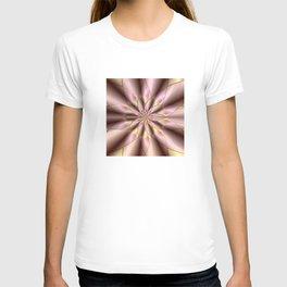 Fractal mandala flower T-shirt