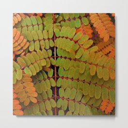 Tiny Leaves Abstract Metal Print