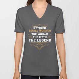 Retired Social Worker Legendary Retirement Unisex V-Neck