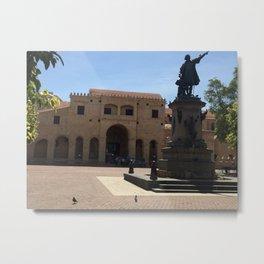Columbus statue in Santo Domingo Metal Print