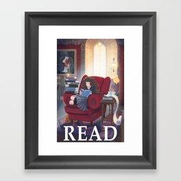 Hermione READ poster Framed Art Print