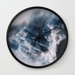 Blue Raw  Kyanite Crystal Wall Clock