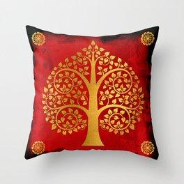Bodhi Tree0109 Throw Pillow