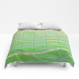 Rippling Green Comforters