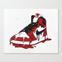 air jordan Canvas Prints featuring Air Jordan I by shoooes