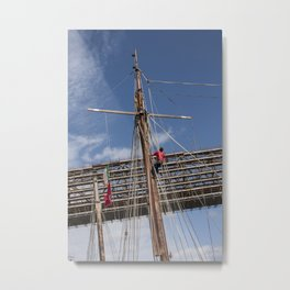 Sailor on the rigging Tall Ship Maritime Festival Drogheda, Ireland Metal Print