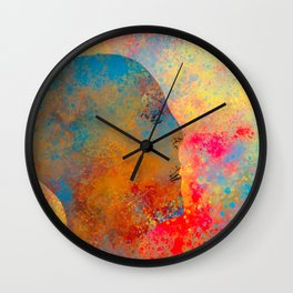 Drifting Into The Colors Wall Clock