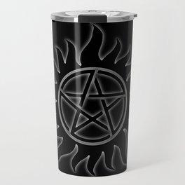 Anti Possession Sigil White Glow Travel Mug