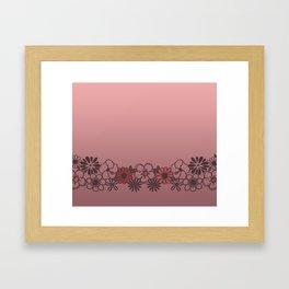 Kitschy Flower Medley Pink Framed Art Print