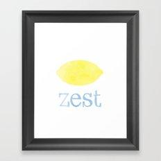 Lemon Zest  Framed Art Print