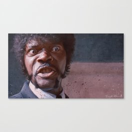Great Vengeance And Furious Anger - Pulp Fiction Canvas Print