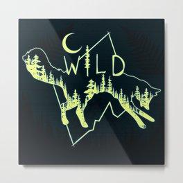Wild Fox Metal Print
