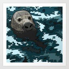 Grey Seal Art Print