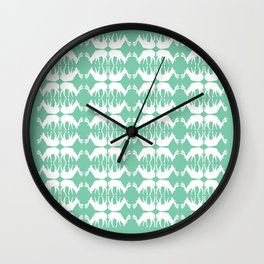 Oh, deer! in mint green Wall Clock
