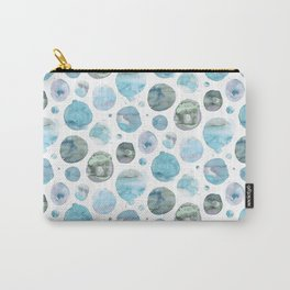Blue Watercolor Polka Dots Carry-All Pouch