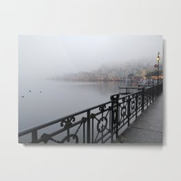 Lugano Waterfront Metal Print