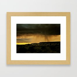 Looks Like Rain Framed Art Print