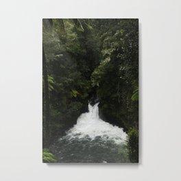 Kaituna Waterfall Metal Print