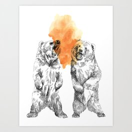 Bear Brain Art Print