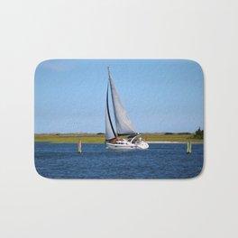 Sailing At Masonboro Island Bath Mat