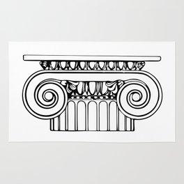 Ionic column Rug