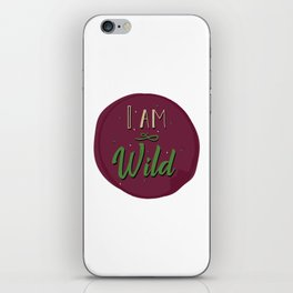 """""""I am wild,"""" replied Grantaire. iPhone Skin"""
