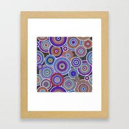 Colorfull Aboriginal Dot Art Pattern Framed Art Print