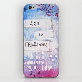 art is freedom iPhone Skin