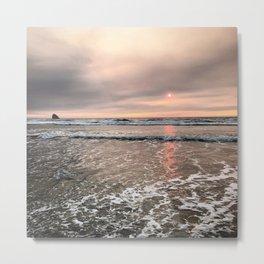 Pretty in Pink Reflection by Seasons Kaz Sparks Metal Print