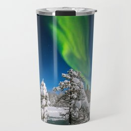 Arctic night Travel Mug
