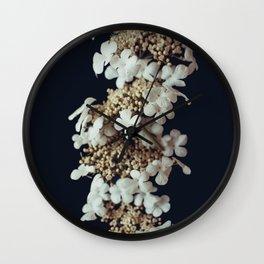White lilac Wall Clock